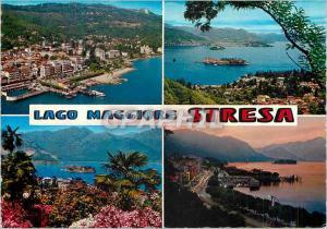 Moderne Karte Salutations de Stresa (Lac Majeur