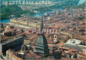Moderne Karte Veduta dall'Aero Vue Generale et la Mole Antonelliana au fond Place Vittorio le Fleuve Po et le