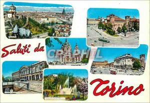 Moderne Karte Salutations de Torino