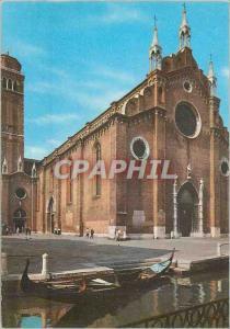 Moderne Karte Venezia Eglise des Frari Bateau
