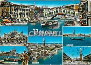 Moderne Karte Salutations de Venise Bateaux