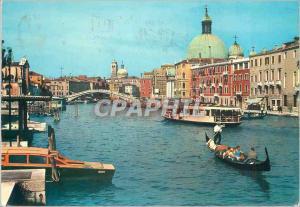Moderne Karte Venezia Le Grand Canal Pont des Dechausses Hotel Germanis Bateaux