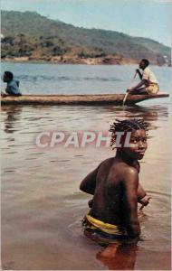 Moderne Karte L'Afrique en Couleurs Jeune Fille au Bain
