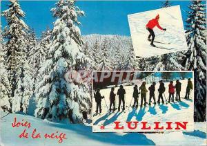 Moderne Karte Lullin (Haute Savoie) alt 850m Joies de la Neige Ski