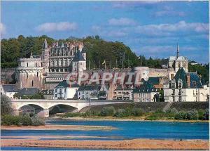 Moderne Karte Amboise (Indre et Loire) les Chateaux de la Loire le Chateau et le Pont Enjambant la Loire