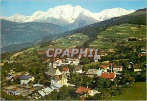 Moderne Karte Combloux (Haute Savoie) alt 1000m et le Massif du Mont Blanc (4807m)