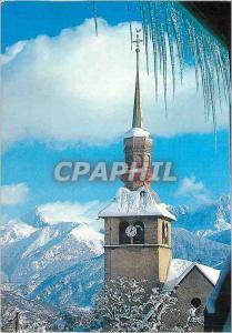 Moderne Karte Cordon Haute Savoie le Clocher sous la Neige