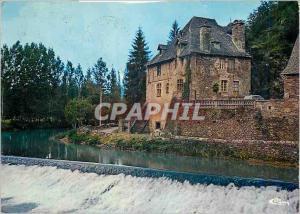Moderne Karte St Cyprien sur Dourdou (Aveyron) Le Chateau de Sagnes