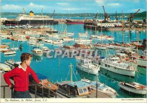 Moderne Karte The Harbour St Helier Jersey CI Bateaux