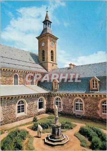 Moderne Karte La Bastide Lozere Trappe Notre Dame des Neiges Le cloitre et Le Clocher de l'Eglise abbatiale
