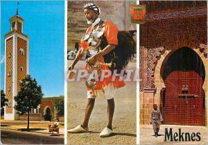 Moderne Karte Meknes Homme Folklore Palais