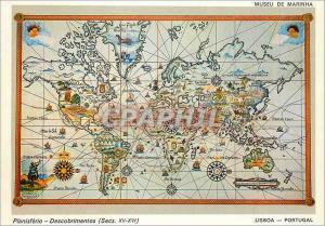 Moderne Karte Lisboa Portugal Planisferio Descobrimentos (Secs XV XVI)