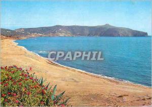 Moderne Karte Palinuro (Salerno) Panorama con Spiaggia