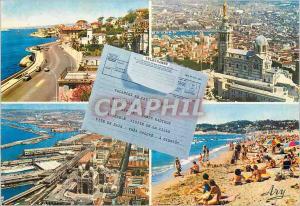 Moderne Karte Marseille Promenade de la Corniche Notre Dame de la Corniche Notre Dame de la Garde La Cathedral