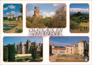 Moderne Karte Chateaux en Auvergne Le Chateau de Val (XIVe S) Le Chateau de Tournoel (XIIe S) Le Chateau de Mu