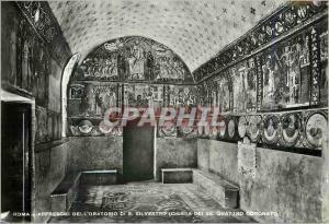 Moderne Karte Roma Affreschi dell'Oratorio di S Silvestro (Chiesa dei SS Quattro Coranati)