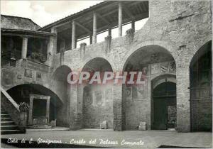 Moderne Karte Citta di S Gimignano (Siena) Le cour de l'hotel de Ville