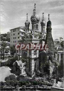 Moderne Karte Riviera dei Fiori SanRemo Chiesa Russa La cote des Fleurs Sanremo Eglise Russa