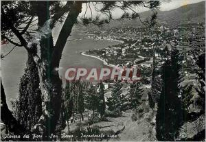 Moderne Karte Riviera dei Fiori Sanremo Incantevole vista Riviera des Fleurs Sanremo Charmante vue