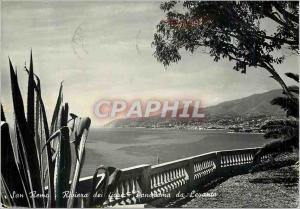 Moderne Karte San Remo Riviera dei fiori Panorama da Levante Riviere des Fleurs Panorama vu du Levant