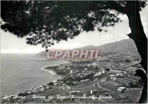 Moderne Karte San Remo Riviera dei fiori Panorama Levante Riviere des Fleurs Panorama vu du Levant