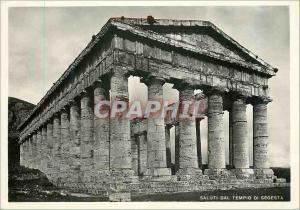 Moderne Karte Salutations du Temple de Segesta