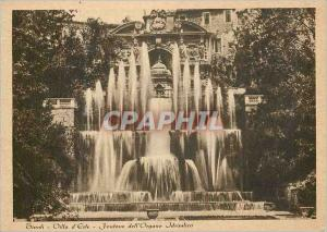 Moderne Karte Tivoli Villa d'Este Fontana dell'Organo Idraulico