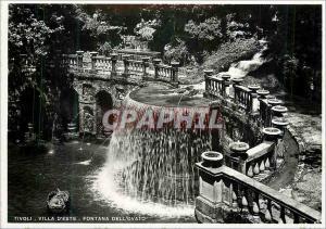 Moderne Karte Tivoli Villa d'Este Fontana dell'Ovato