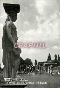Moderne Karte Tivoli Villa Adriana L'Euripo con una Cariatide e l'Emiciclo L'Euripe avec une Cariatide et l'He