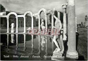 Moderne Karte Tivoli Villa Adriana Canopo Emiciclo dell'Euripo Hemycicle de l'Euripe