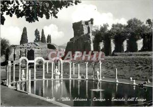 Moderne Karte Tivoli Villa Adriana Canopo Emiciclo dell'Euripo Canope Hemicycle de l'Euripe