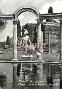 Moderne Karte Tivoli Villa Adriana Canopo Statua di marte(Ve sec a C) Statue des Mars