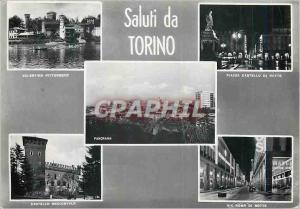 Moderne Karte Torino Saluti da