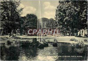 Moderne Karte Torino Giardini Stazione Porta Nuova Jardins de la Gare Porta Nuova