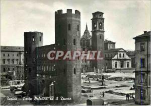 Moderne Karte Torino La Porte Palatine et le Dome Porta Palatina ed il Duomo