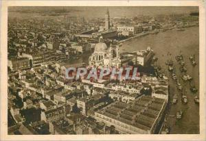 Moderne Karte Venezia Panorama di Venezia col Campanile di San Marco