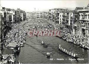 Moderne Karte Venezia Regata Storica Bateaux