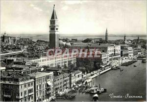 Moderne Karte Venezia Panorama Bateaux