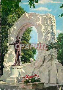 Moderne Karte Vienne Monument a Johann Strauss