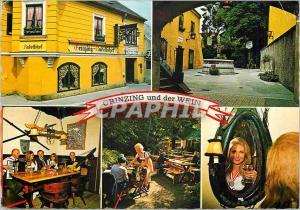 Moderne Karte Vienne Grinzing connu dans le monde entier pour sa viniculture et ses vins documente comme lieu