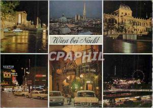 Moderne Karte Vienne Wien bei Nacht Vienne de nuit