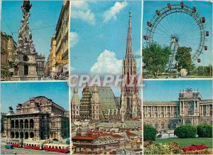 Moderne Karte Vienne Wien Souvenir de Vienne Graben Oper Stephansdom Tramway