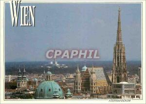 Moderne Karte Vienne Wien Monument a Johann Strauss