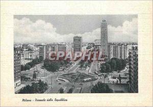 Moderne Karte Milano Place de la Republique