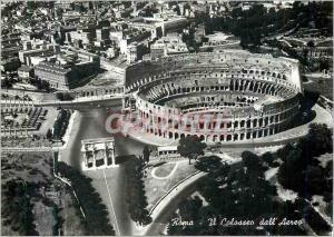 Moderne Karte Roma Il Colosseo dall'Aereo