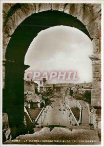 Moderne Karte Roma La Via Dell'Impero Dall'Alto del Colosseo
