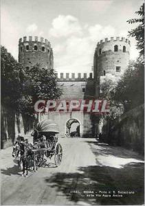 Moderne Karte Roma Porta di S Sebastiano Sulla via Appia Antica Caleche Cheval