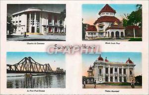 Moderne Karte Souvenir de Hanoi Chambre de Commerce Musee Louis Finot