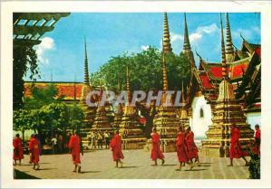 Moderne Karte Scene of Wat Po Bangkok Thailand