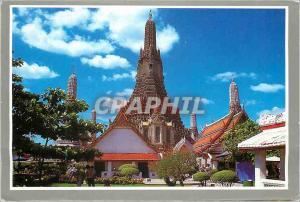 Moderne Karte Bangkok Thailand the Pagoda of Temple of Dawn